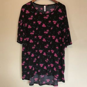LuLaRoe Black Floral Irma Tunic